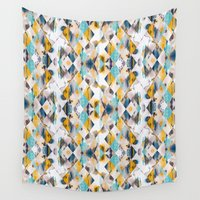diamonds Wall Tapestries featuring Diamonds by James McKenzie