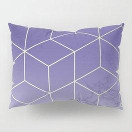 Geometric Marble Ultraviolet Purple Gold Pillow Sham