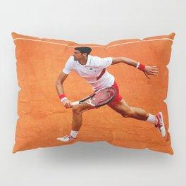 Novak Djokovic Running Pillow Sham