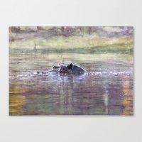 hippo Canvas Prints featuring Hippo by Saskia von Sperber