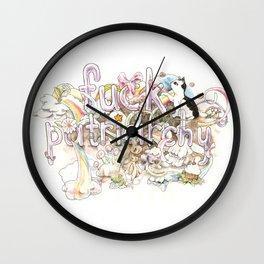 Fuck Patriarchy Wall Clock