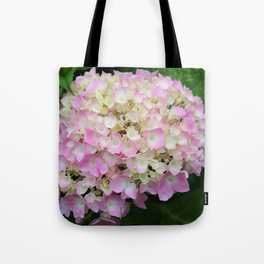 Pink and White Hydrangea  Tote Bag