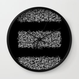 tri black Wall Clock