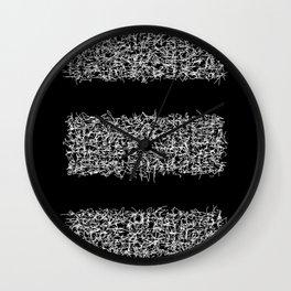 tri black Wall Clock