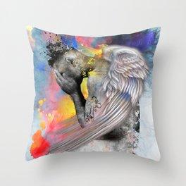 angel male nude Throw Pillow