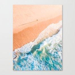 A Shadow on the beach Canvas Print