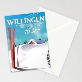 Willingen,Germany ski poster Stationery Cards