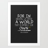 dumbledore Art Prints featuring Dumbleism - Dumbledore Quote 3 by Teacuppiranha