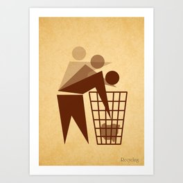 Recycling Art Print