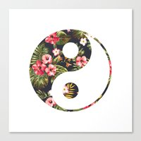 yin yang Canvas Prints featuring Yin Yang by Hipster