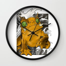 Neo traditional tattoo-style Toad Wall Clock