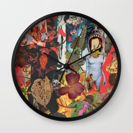 Red hens and many others and more..... Wall Clock