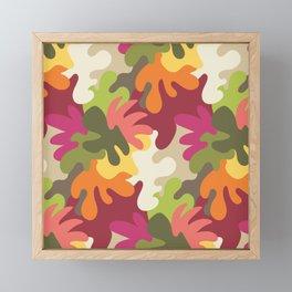 Spring Camouflage Framed Mini Art Print