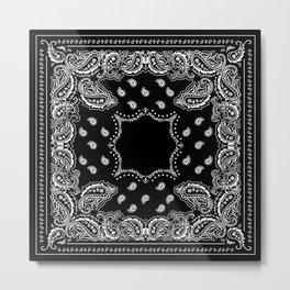 Bandana Black & White Metal Print