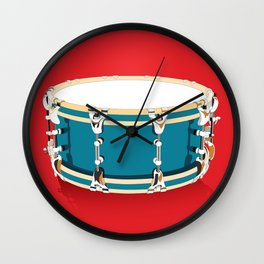 Drum - Red Wall Clock