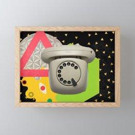 Call me #collage Framed Mini Art Print