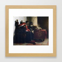Jean-Paul Laurens - The Pope and the Inquisitor 1882 Framed Art Print