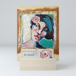 """Be Heard"", Tea Bag Portrait Mini Art Print"