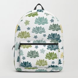 Lily Pond on white Backpack
