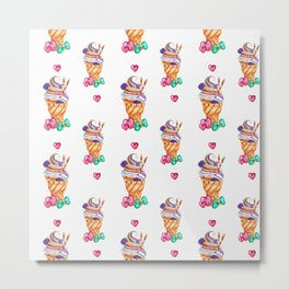 Hand drawn smoothie pattern Metal Print