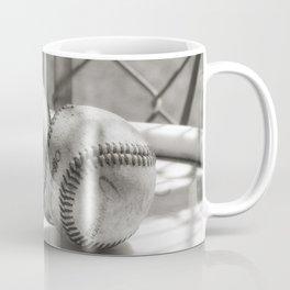 3 Baseballs on a Bucket in Sepia Coffee Mug