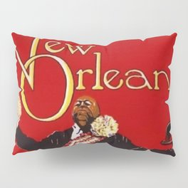 1976 New Orleans Jazz Festival Advertising Gig Poster Pillow Sham