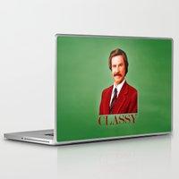 anchorman Laptop & iPad Skins featuring CLASSY by John Medbury (LAZY J Studios)