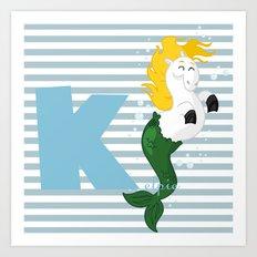 k for kelpie Art Print