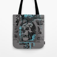 monster inc Tote Bags featuring War inc. by Tshirt-Factory
