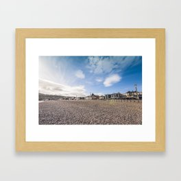 Bray beach landscape Framed Art Print