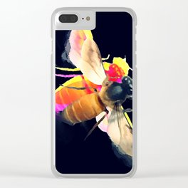 Abeille dark Clear iPhone Case