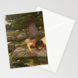 John William Waterhouse - Echo and Narcissus Stationery Cards