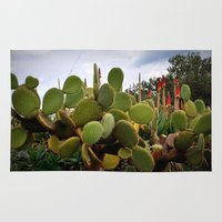 cactus Area & Throw Rugs featuring cactus by  Agostino Lo Coco