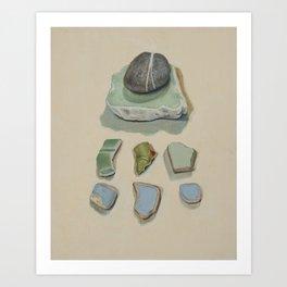 Healing Greens and Power Stones Art Print
