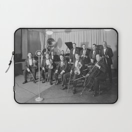 Vintage black and white photo of orchestra Laptop Sleeve