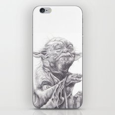 Yoda sketch iPhone & iPod Skin