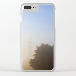 one metal high-voltage pole Clear iPhone Case