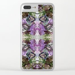 Psychedelic Positive Notes Lavender Zoom Clear iPhone Case