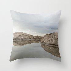 the winter storm Throw Pillow