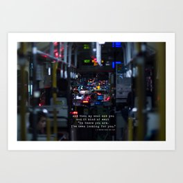 The Point Of Contact Art Print