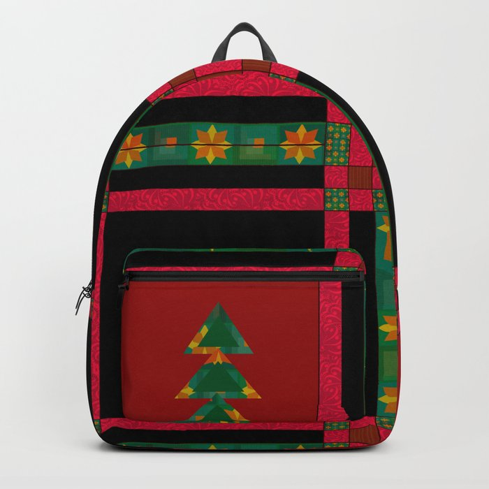 Christmas. Patchwork . Backpack