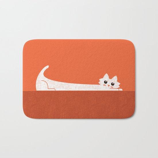 Mark's Superpower: cat Superstretch Bath Mat