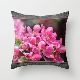 Crabapple Tree named Prairiefire Throw Pillow