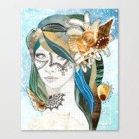 aqua Canvas Prints featuring Aqua by Jenndalyn