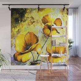 BIG YELLOW FLOWERS Wall Mural