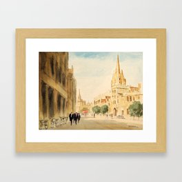 Oxford High Street Framed Art Print