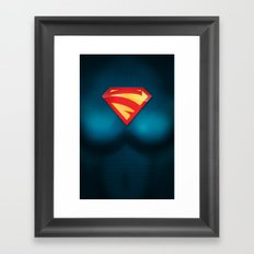 SUPERGIRL SUIT Framed Art Print