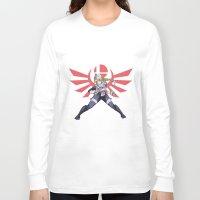smash bros Long Sleeve T-shirts featuring Smash Bros - Sheik by Emm Gee Art