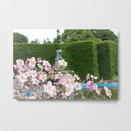 Flowers and Fountains Metal Print