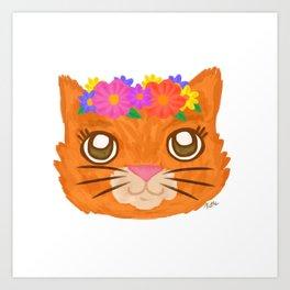 Frida Cat Art Print